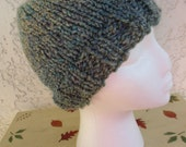 Cozy Comfort Women's Beanie in Regency (Teal, Gray) READY TO SHIP