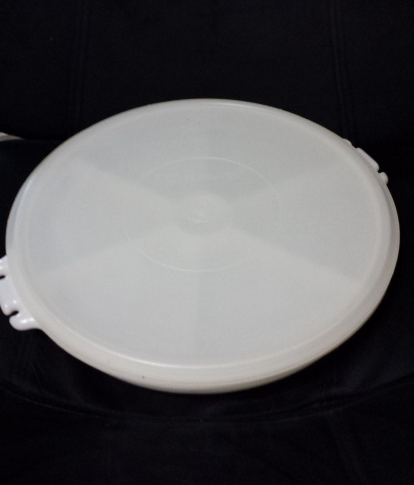 Sectioned Tupperware: Vintage Tupperware Divided Serving Tray By