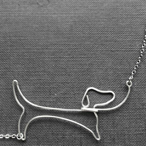 Dachshund Necklace - Dachshund Jewelry, Dog Lover Gift