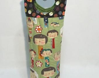 Wine Tote Bag Japanese Gieshas Wine Gift Bag Hostess Gift gift Under 25 Wine Bag Wine Lover Gift