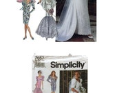 Vintage Simplicity 7657 Sewing Pattern, Bridal Gown Pattern, Wedding Gown Pattern, Bridesmaid Dress Pattern, Vintage Wedding Dress Pattern