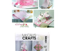 Diaper Cake Pattern, Hooded Towel Pattern, Baby Blanket Pattern, Burp Cloth Pattern, Baby Toy Pattern, McCall's Crafts M6301 Sewing Pattern