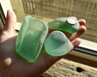CHUNKY Sea Glass Shards - Scottish Sea Glass - Jewelry Supplies (1203)