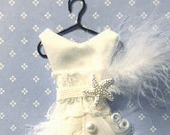 Curly Feather Ball Gown