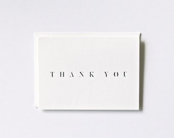 Fancy Thank you - Letterpress Printed Greeting Card