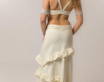Flamenco Goddess skirt - Bohemian skirt - womens clothing - long ruffle skirt - burning man