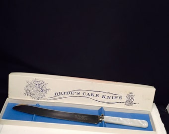 Wedding Cake Bride's Knife Kirk And Matz Sheffield Cutlery Mother Of Pearl Handle In Original Box