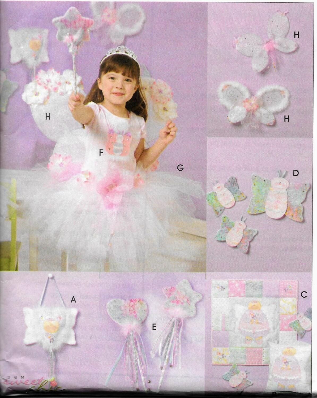 Mccalls princess fairy accessories tutu skirt butterfly for Princess fairy door