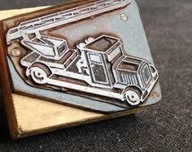 Antique truck letterpress block.