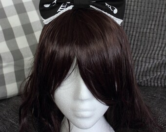 Black and White Music Note Lolita Bow