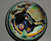Art Glass Orb with Opal and Skull by Tim Keyzers