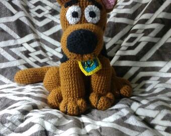 Crochet Scooby inspired dog