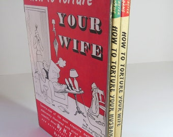 How to Torture Your Husband Wife Boxed Set Vingage Humor Books 1948 H.T. Webster