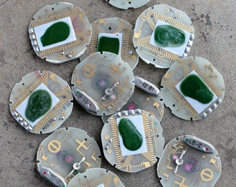 Digital watch chips -- set of 12 -- D1