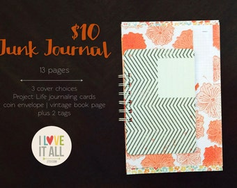 Orange Blossom Junk Journal . Smashbook Notebook Scrapbook Mini Album . Listers Gotta List Lists Listers Mixed Media Smash Book Art Journal