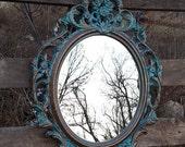 Baroque Mirror /  Large Wall Mirror/ Hollywood Regency Mirror/ Ornate Mirrors/ Shabby Chic Mirror / Bathroom vanity mirror Bedroom Nursery