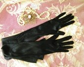 Vintage Opera Length Gloves, S