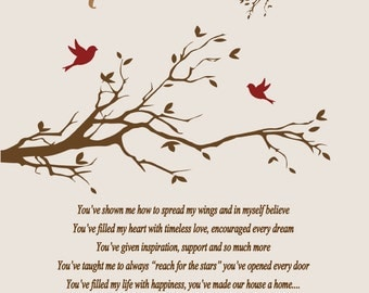 Mother's Day Gift To Mom From Son-Mother's Day Gift To Mom From Daughter-Mother's Day Poem-Personalized Print-Choice of Color-Choice of Poem