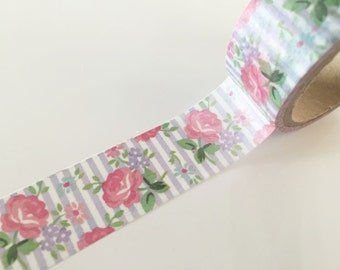 Shabby Chic Roses Washi Tape 20mm x 10m WT866