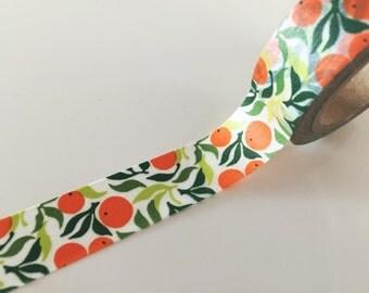 Summer Orange - Washi Tape 15mm x 10 meters WT834