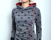 hoody shirt grey stars by STADTKIND
