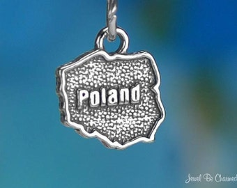 Sterling Silver Poland Charm Polish Country Europe Travel Solid .925