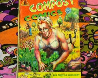 Compost Comics #1 1973 Rare Underground Hippie Psychedelic Comic Book