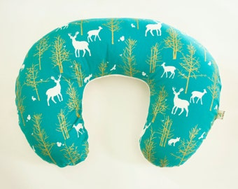 Animal Breastfeeding Pillow : SALE Woodland Animals Nursing Pillow Cover Hello Meadow