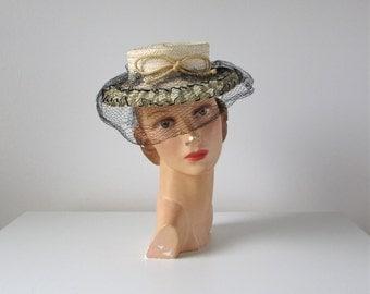 vintage tilt hat / A Tisket a Tasket / 1940s toy hat
