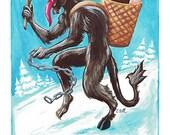 Gruss Vom Krampus Christmas Postcard set of 20