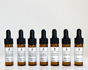COMPLETE Beard Oil Sampler set | Father's Day Gifts for Men | Trial size 100% natural and vegan beard oils | Set of 7