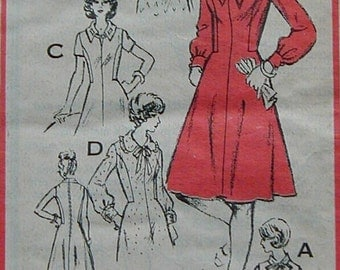 A 764 1970s Mail Order Prominent Designer Fashion BERT GEIGER Bk Zipper 6 Styles of Dresses Frocks Fabric Material Sewing Pattern Womens
