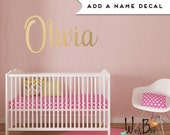 Custom Name Decal for Nursery - Fancy Name Decal - Gold Baby Name Wall Decal - Metallic Gold Decal for Walls - First Name or Any Word -WB108