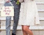 Custom Wedding Banner | Hanging Bridal Sign Bride & Groom | Handmade in USA | Photo Prop | Honeymoon | Script Font | Flower Girl Ring Bearer