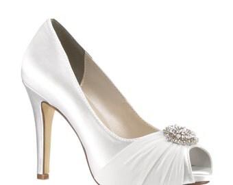 Custom Color Wedding Shoes, Pretty Wedding Shoes, Bridal Shoes,Womens Bridal Shoes, 250 Colors, Dyed Wedding Shoes, Pink2Blue Bridal Shoes