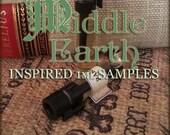 MIDDLE EARTH inspired Perfume Oil Samples / 1ml Perfume / inspired by Lord of the Rings Perfume / Vegan Perfume oils / Medieval Perfume