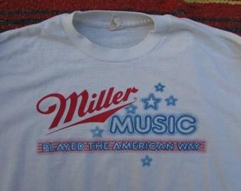 miller music 50/50 americana long sleeved thin tee