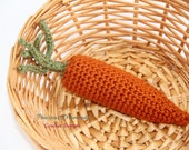 Carrot, Crochet Carrot, Carrot Toy, Crochet Toy, Easter Toy, Newborn Photo Prop, Baby Toy, Play Food Toy, Crochet Play Food, Amigurumi
