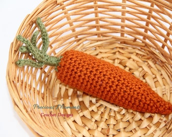 Carrot, Crochet Carrot, Carrot Toy, Crochet Toy, Easter Toy, Newborn Photo Prop, Baby Toy, Play Food Toy, Crochet Play Food, Amigurumi