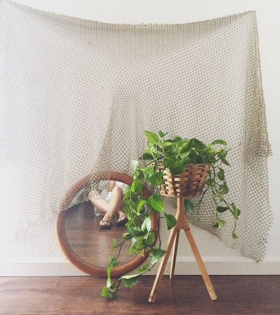 mid century modern wooden basket tripod plant stand wicker. Black Bedroom Furniture Sets. Home Design Ideas