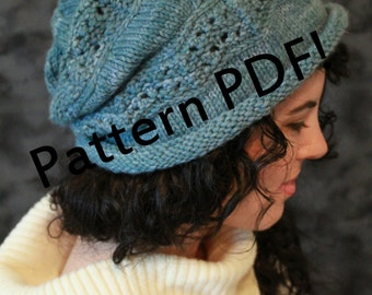 Crinkle Beret/Hat: PDF Knitting Pattern by The Sexy Knitter