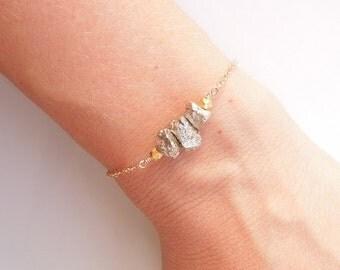 Pyrite Fools Gold Bracelet - OOAK Jewelry