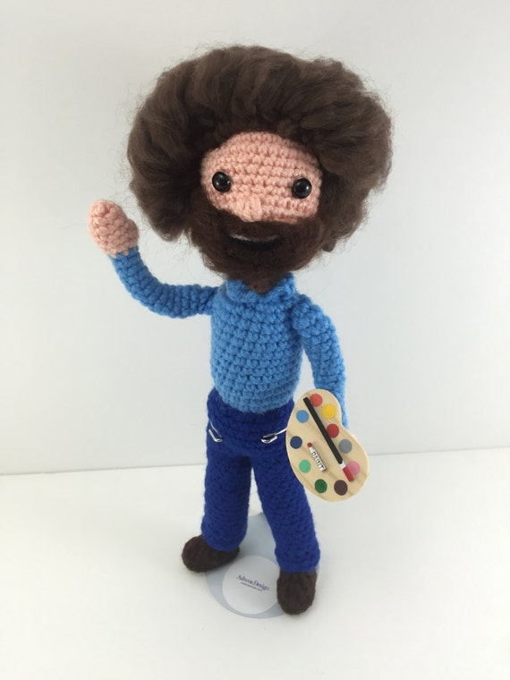 Amigurumi Ugly Doll : Bob Ross Celebrity Dolls For Sale Amigurumi Doll