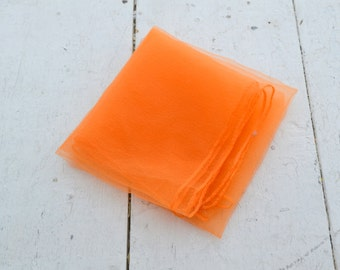 1960s Orange Chiffon Scarf