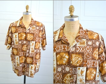 1990s Men's Hawaiian Shirt