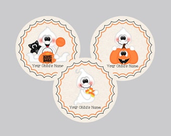 Set of 15 Halloween Tags. Trick or Treat Tags, Pumpkin Tags, Ghost, Tags Treat Bag Tags, Favor Tags, Personalized Tags