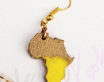 Mini Africa Stud Earrings w HOLES -