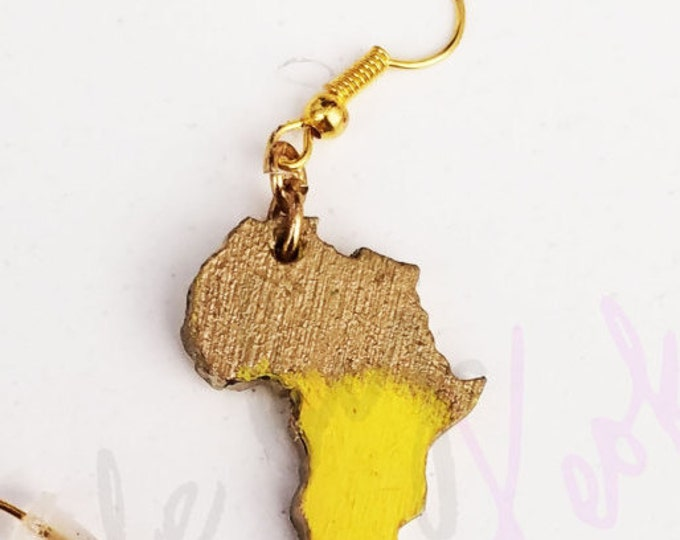 Mini Africa Stud Earrings w HOLES -