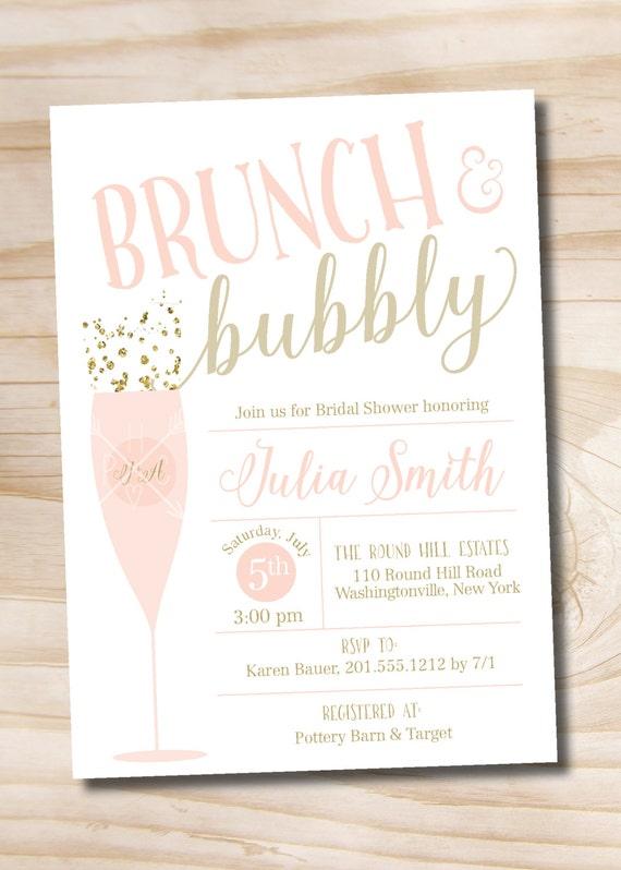 Brunch and bubbly bridal shower invitation confetti glitter bridal il570xn filmwisefo