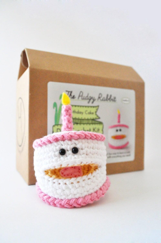 Crochet Birthday Cake Kit, Amigurumi Kit, DIY Crochet ...